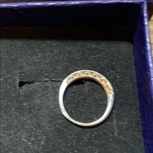 Jewelry - 14k white gold with diamond curved wedding band
